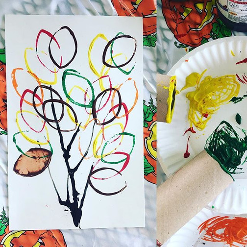 Printmaking leaves