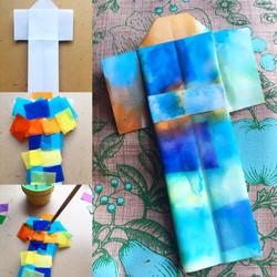 Tissue Paper tie-dye Origami