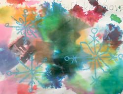 Tie-Dye Snowflakes