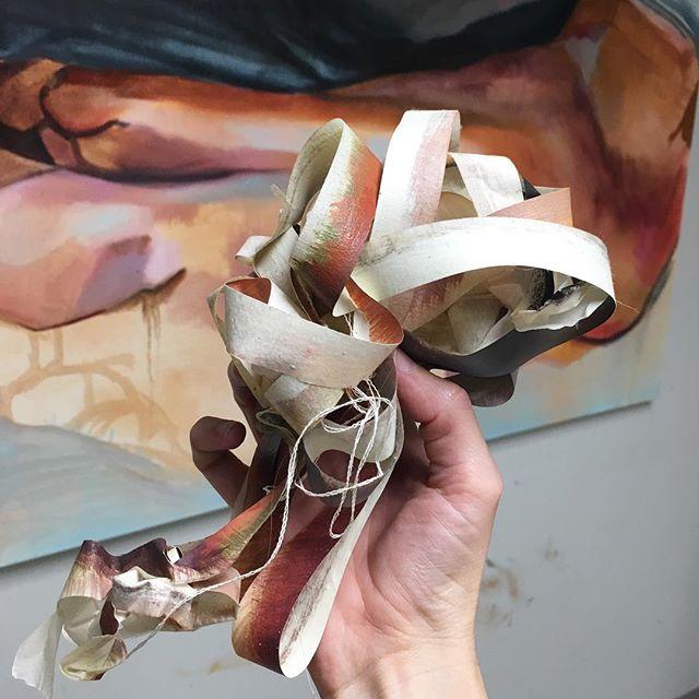 Fleshy tape_#tape #painting #artstudio