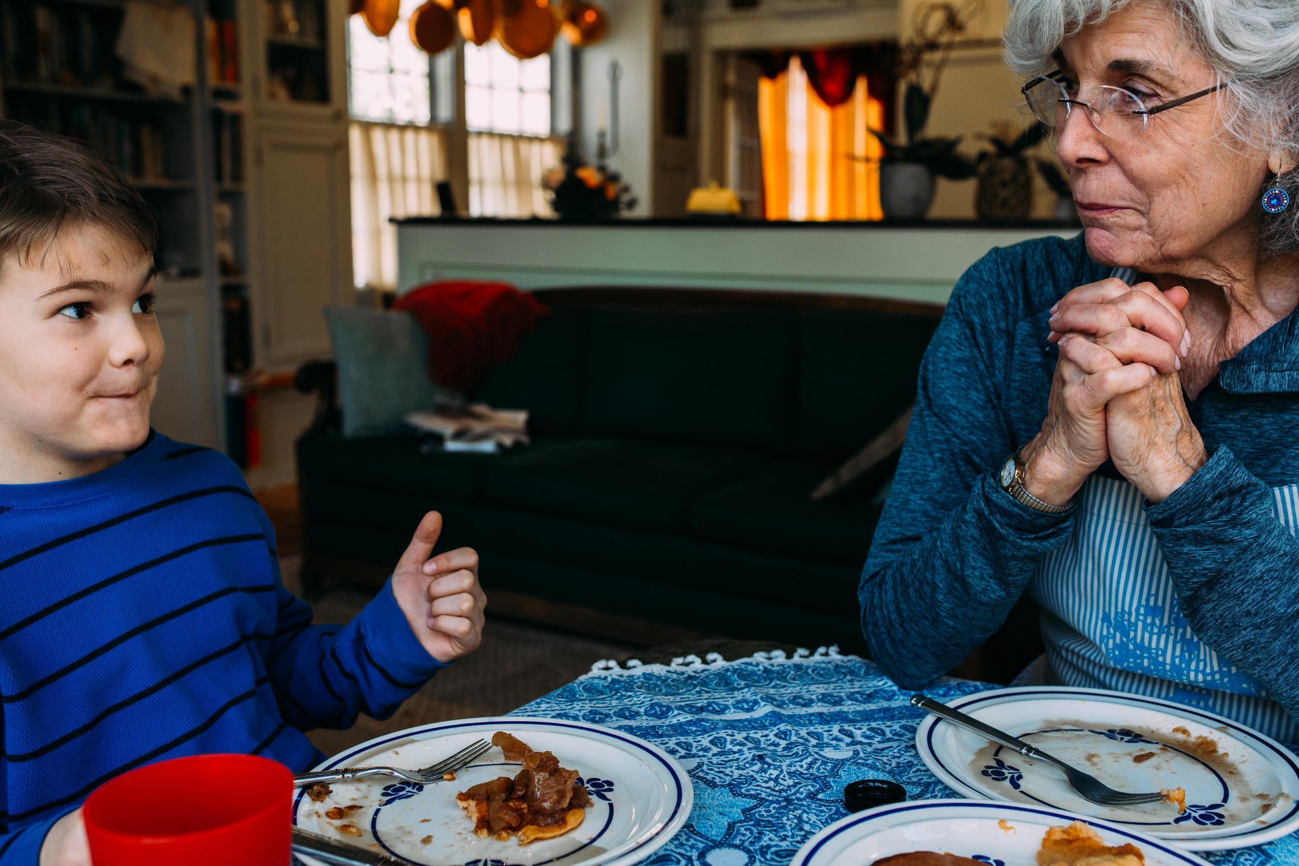 Eating with Grandma