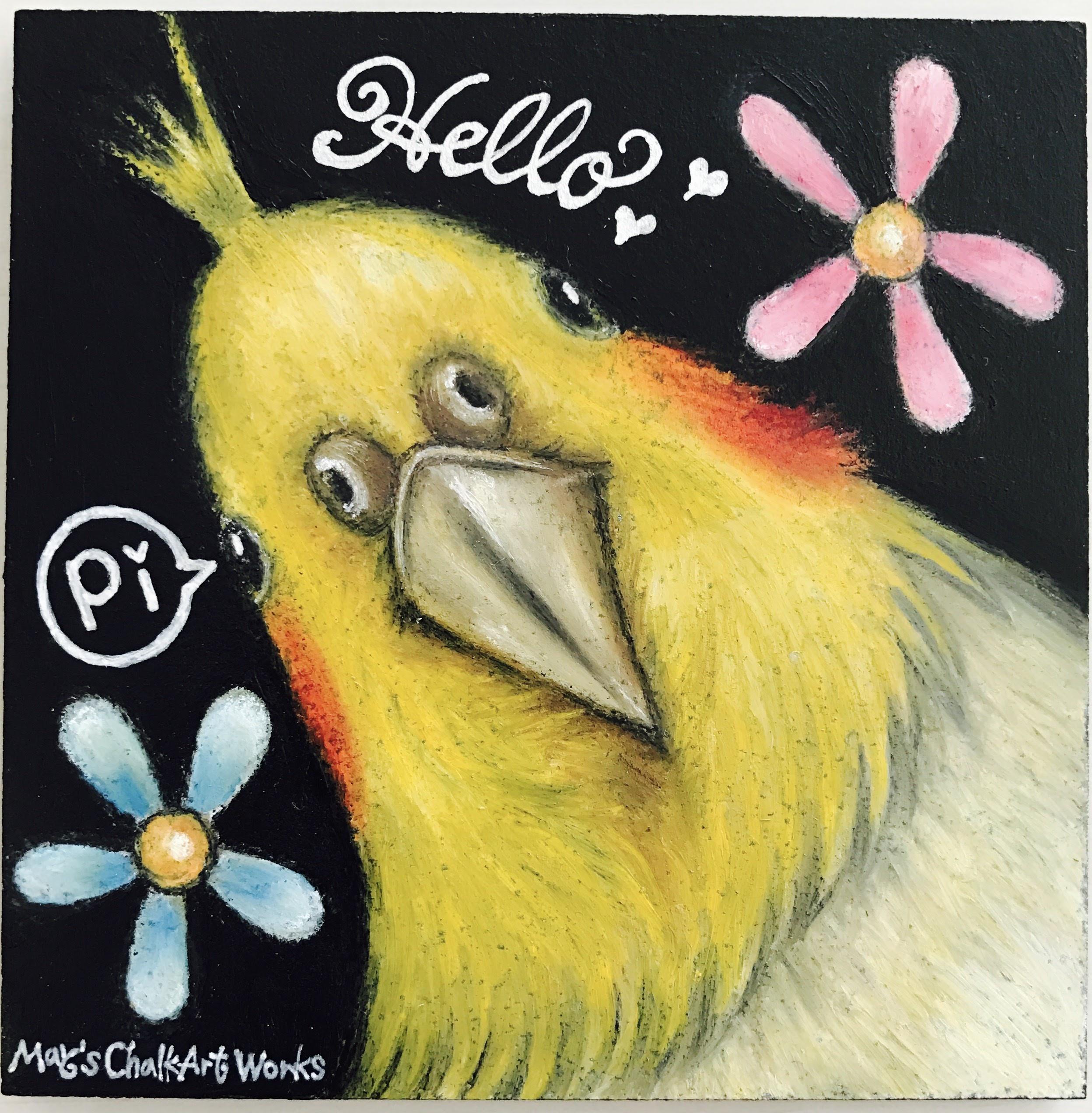 鳥ペット似顔絵