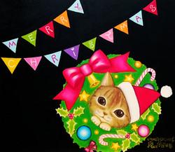 ペット似顔絵クリスマス08