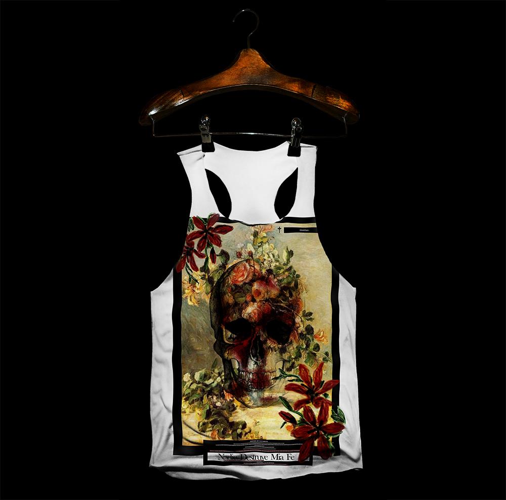 regata caveira floral eccomerce