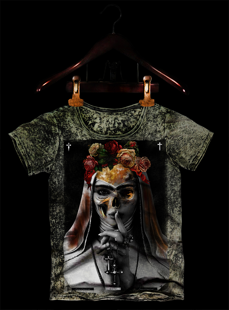 tshirt caveira santa eccomerce-