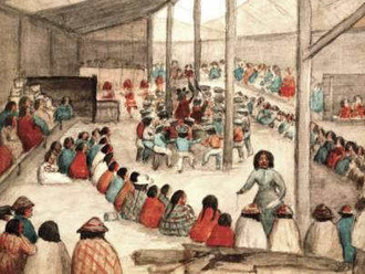 1885 - Anti-potlach laws enacted under the Indian Act. Responsibility for the education of children