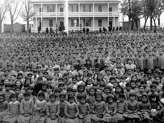 1884 - Indian Act amended to enforce that all Indian children aged 7 to 15 attend residential school