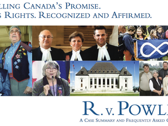 1982 - R. v. Powley recognized and affirmed the existence of Métis as a distinct Aboriginal people w