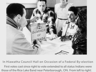 1960 - All Aboriginal people win the right to vote in Federal elections, without losing their status