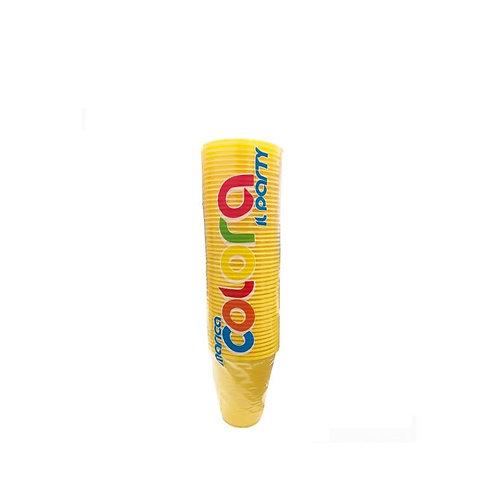 bicchieri monouso giallo 50 PEZZI