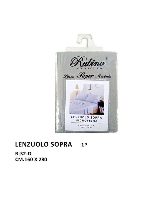 Rubino collection, lenzuolo sopra  in microfibra B-32-D