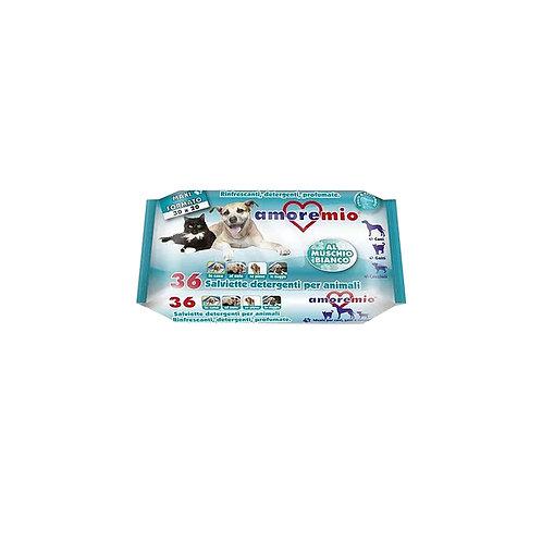 AMOREMIO, 36 salviette detergenti per animali