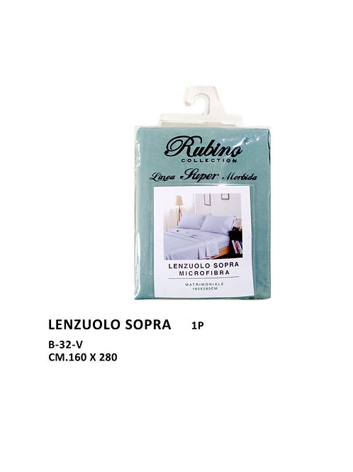 Rubino collection, lenzuolo sopra  in microfibra B-32-V