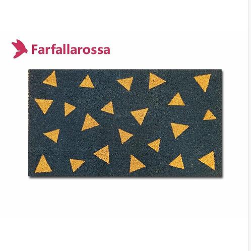 Farfallarossa Zerbino in cocco rettangolare,  stampa triangoli