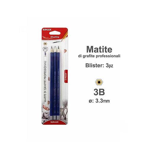 SUNLUX matite di grafite professionali 2B 3 pezzi