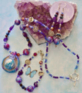 Blue and Purple Goddess Jewelry Set by Mystic Raeyne Boutique - L. Evert