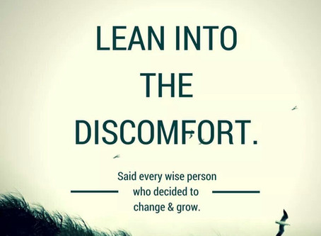 Using discomfort to motivate yourself.