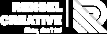 Rensel Creative logo hvit Show dont tell