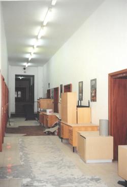 Chodba při rekonstrukci v roce 2009