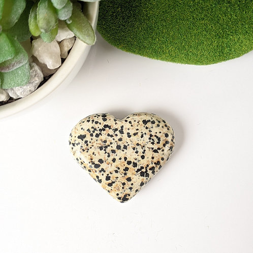 Dalmatian Jasper Crystal  Heart  Ethically Sourced