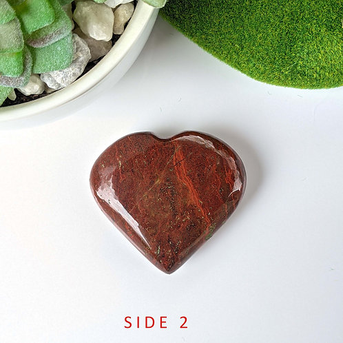 Red Jasper Heart Ethically Sourced
