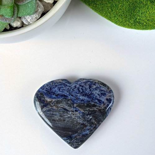 Sodalite Heart  Ethically sourced
