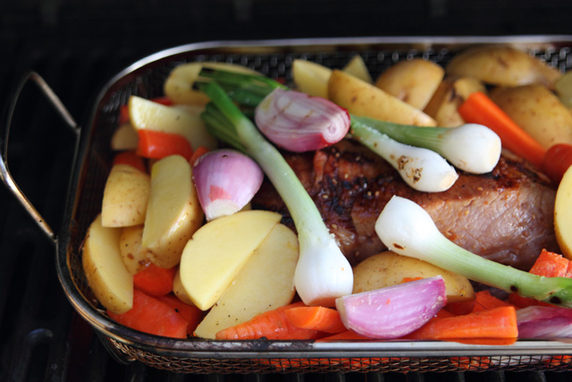 Roast and veggies