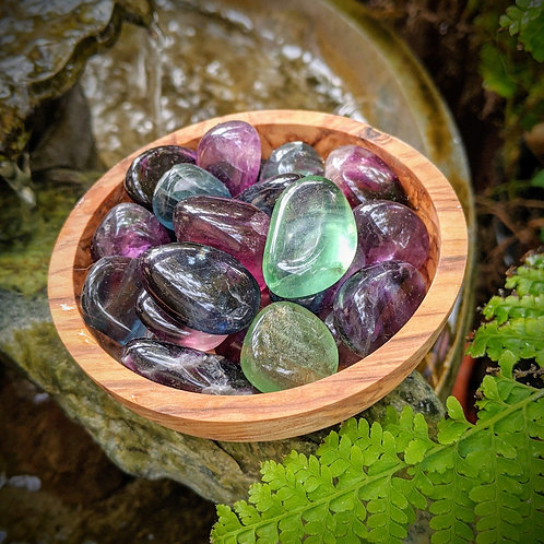 Fluorite Tumbled Stone, Ethically Sourced