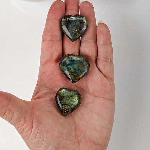 Labradorite Heart Crystal Ethically Sourced