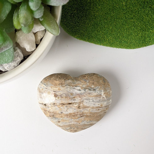 Ocean Jasper Heart Ethically Sourced
