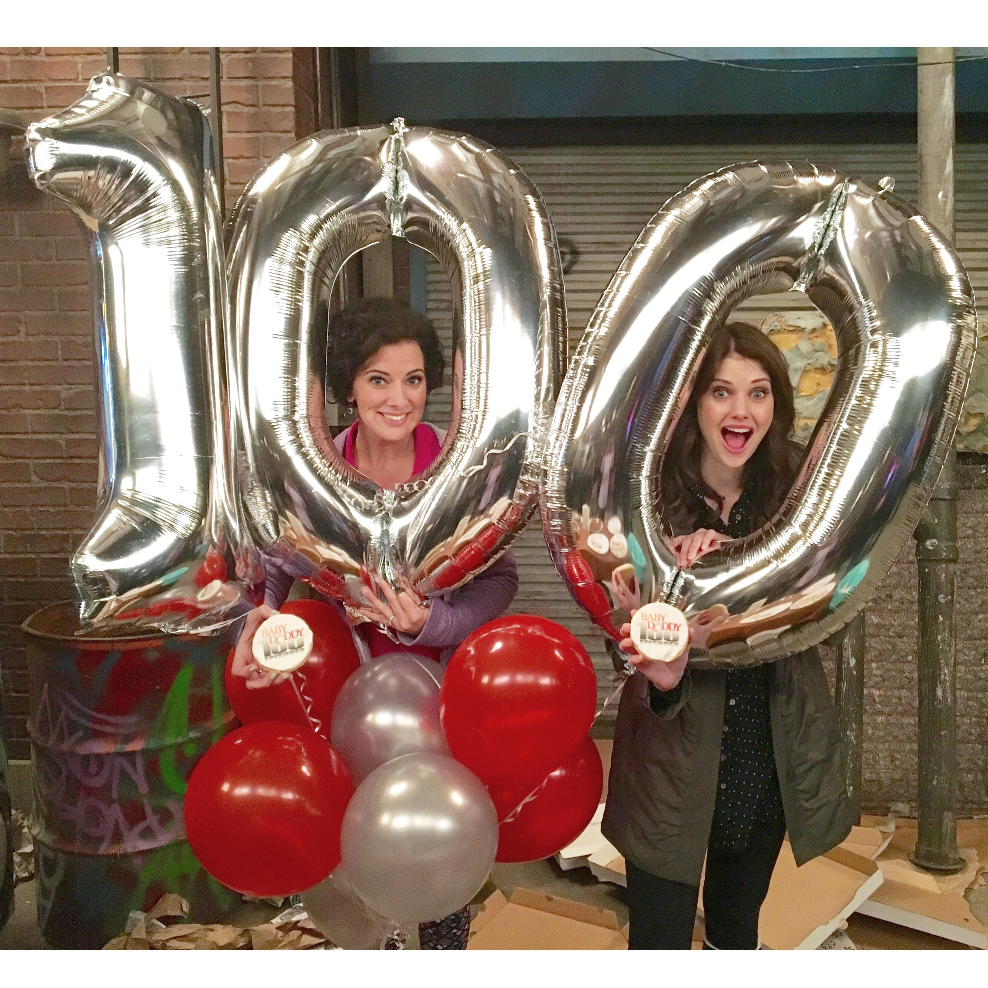 Baby Daddy 100th episode on set