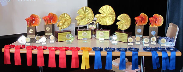 Zurich Betta Show Trophies, handmade in Thailand