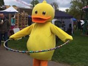 Hula Hooping Duck Fun at the Duck Race