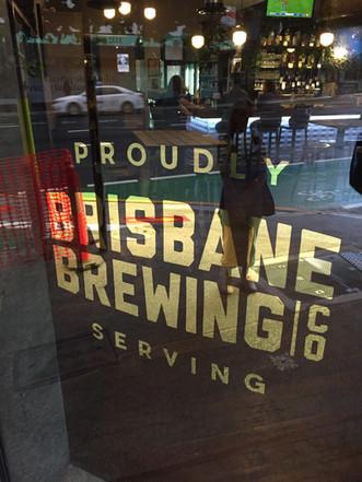 Logotype design and signage for Brisbane Brewing, 23k Gold leaf