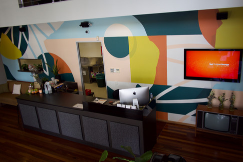 Lobby artwork for The Post Lounge in Woolloongabba