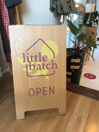 Logo design and hand painted signage for Little Batch