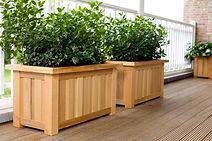 Plantenbak gemaakt van bamboe