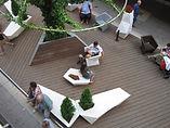 Bamboe terras voorbeeld