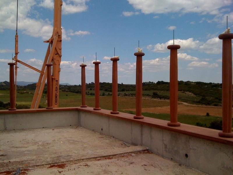 Ronde houten kolom sigaarvormig-peetersj
