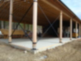 Sterke ronde houten kolomme