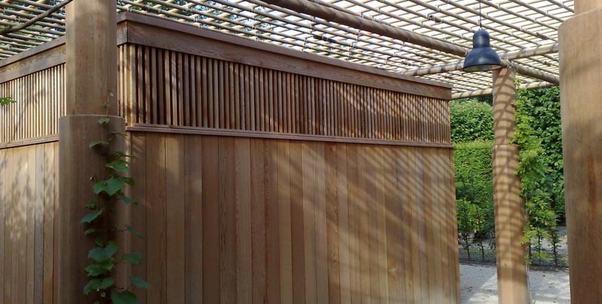 Ronde houten kolommen-peetersjef.be