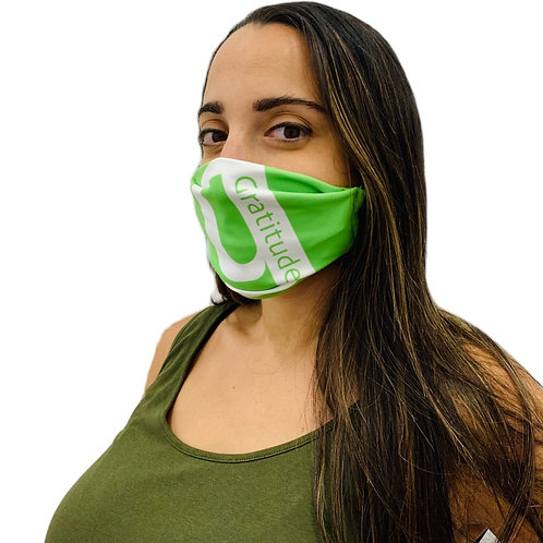 GRATITUDE 2-ply Face mask with elastic strap and pocket (3-pack)