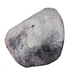 Fluorite, 2014 Encaustic on wood