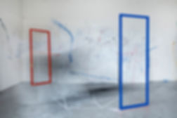 geometric form, movement, performance, painting