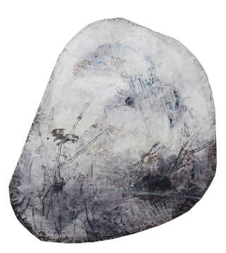 Fluorite #2, 2014 Encaustic on wood