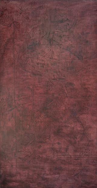 "Portal #5, 2015 Encaustic on wood 45""x85"
