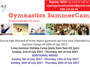 Additional Summer Camps 2017