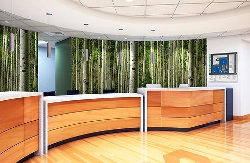Aspen Forest Mural-Hospital Reception.jp