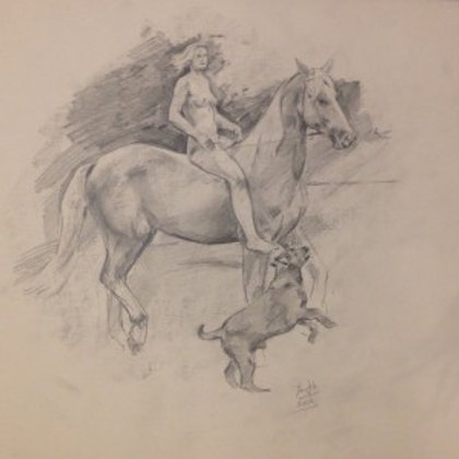 THE LADY ON THE HORSE