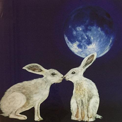 Moon Hares Print